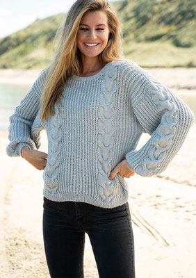 Pullover mit Flechtmuster aus Easy Care Classic