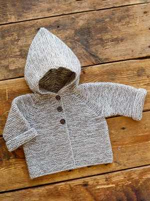 Kofta till baby i ONION Soft Organic Wool+Nettles