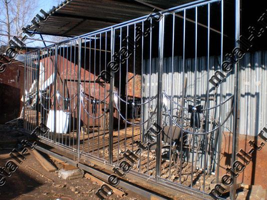 Балконное ограждение-решетка из нержавейки