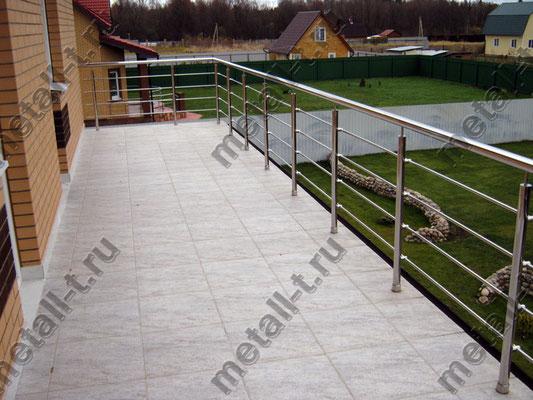 Балконное ограждение из нержавеющей стали