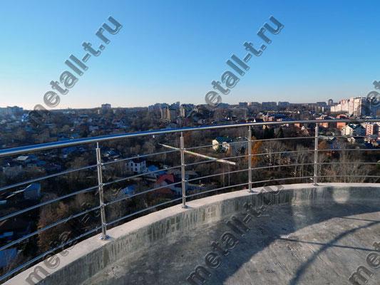 Нержавеющее ограждение балкона
