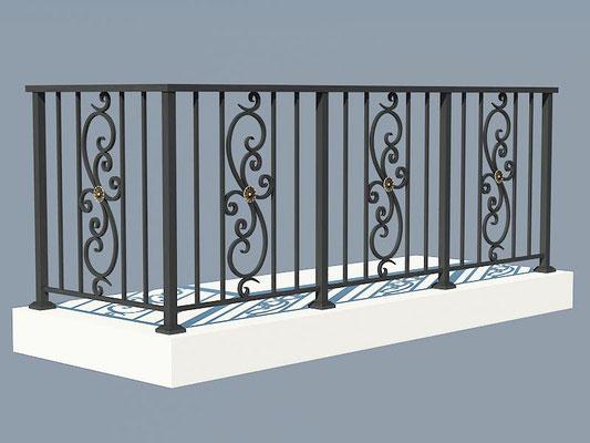Балконное ограждение сварное