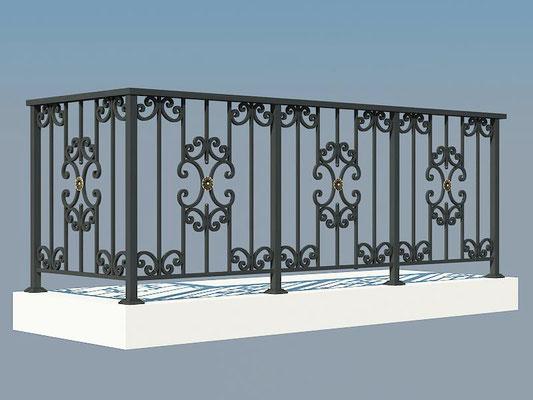Балконное ограждение из готовых элементов