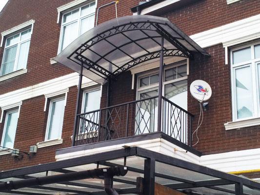 Сварные ограждения балкона