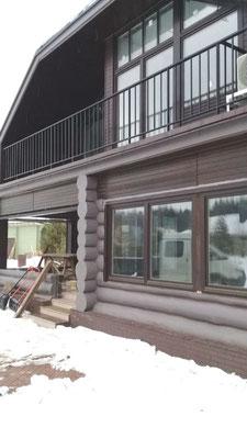 Сварное балконное ограждение в частном доме