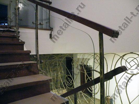 Лестничные ограждения со стеклом