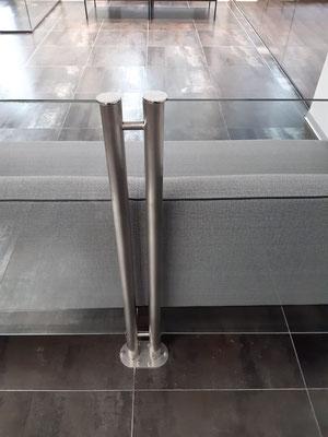 Ограждения из нержавеющей стали со стеклом