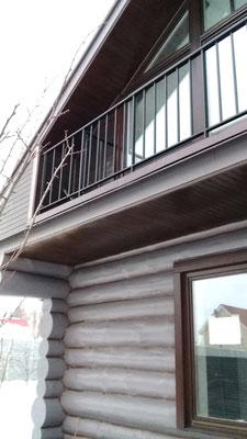 Балконное ограждение из профильной трубы