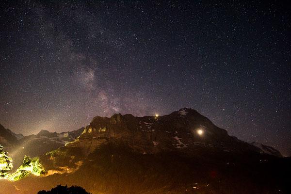 Grindelwald mit Eiger Nordwand bei Nacht, 2015