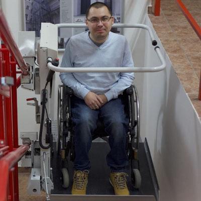 Selbstständig von Rollstuhlfahrern benutzbar