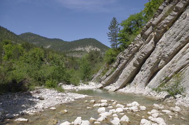 Flussbettwanderung