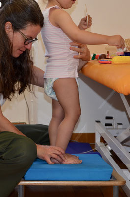 Kinderphysiotherapie Fussaufrichtung