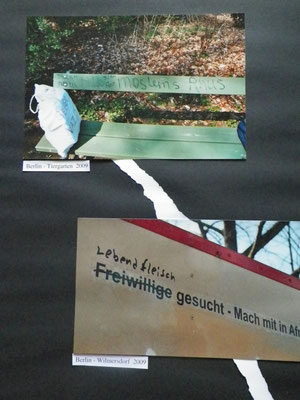 Hass-Schmierereien Berlin Tiergarten Wilmersdorf 2009