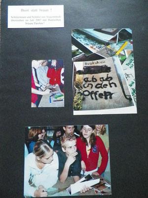 Hass-Schmierereien Workshop an einer Schule in Angermünde 2007