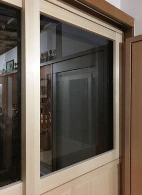 木製2枚ガラス引戸 木製サッシ 断熱 内付け