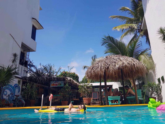 pool, fun, relax, holidays, puerto escondido, best hostal