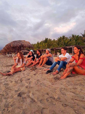 team, staff, get together, beach, la punta, zicatela, puerto escondido