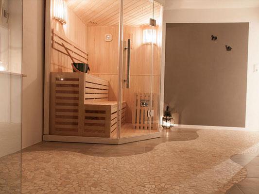 Sommersmühle: Sauna