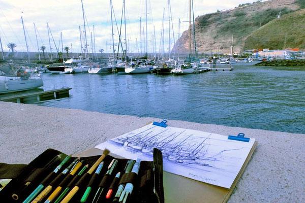 Zeichenkurs auf La Palma