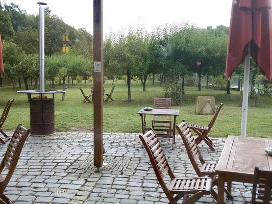 Terrasse und Garten Hildegard Forum Bingen