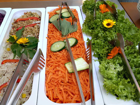 Mittagsbuffet Salat im Hildegard Forum