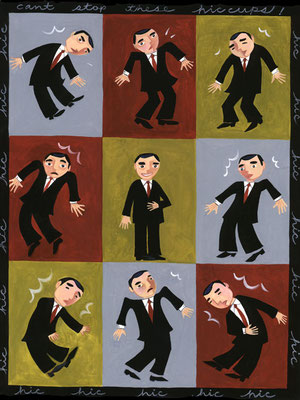 Hiccups / magazine illustration / Client: Momentum Magazine; Emory Healthcare
