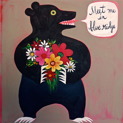 Blue Ridge Ambassador Bear | 12 x 14 on plywood