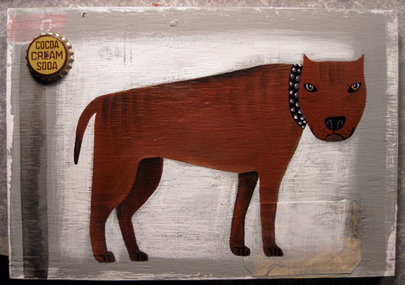 Ol Pittie | 10 x 12 on plywood