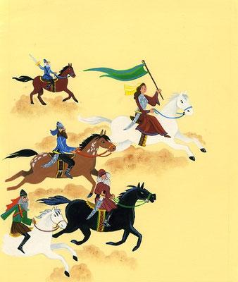 Deborah / book illustration from  Bible Heroes / Client: Readers Digest