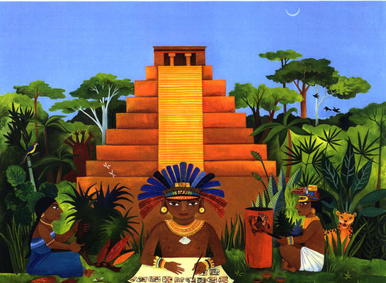 The Maya: Secrets of Ancient Cultures / book cover / Client: Wiley Publishing