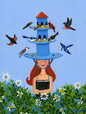 How to Attract Birds / cover art / Client: Bas Bleu