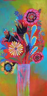 country bouquet. 12x18 acrylic on plywood