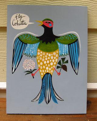 Fly Cohutta | 12 x 18 acrylic on wood