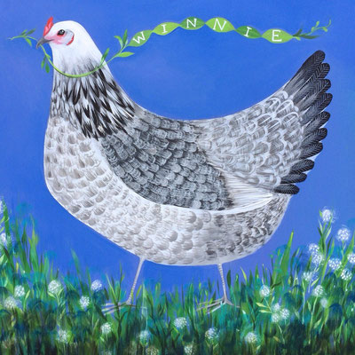 Winnie the Wonder Hen | gift painting made for FarmGirl found on Instagram