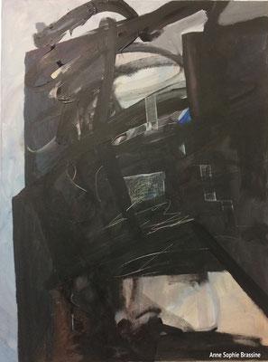 Anne Sophie Brassine, peintures, 2019 à la chapelle de Profondsart
