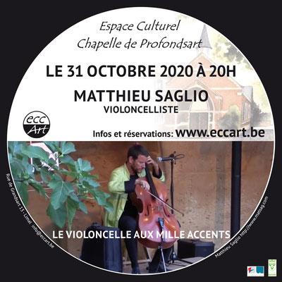 2020 Matthieu Saglio à la chapelle de Profondsart