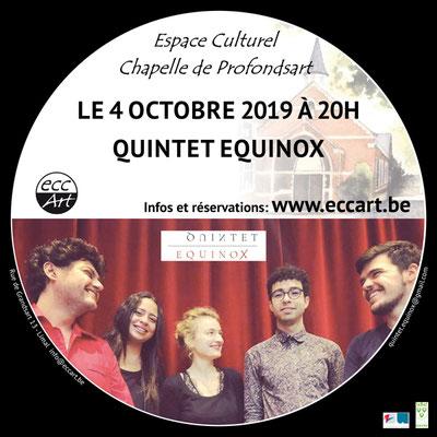 Le Quintet Equinox à la chapelle de Profondsart, 2019