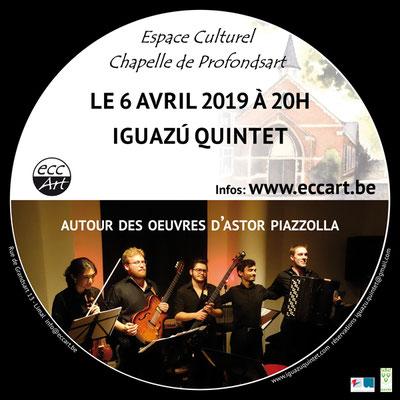 Concert d'Iguazú Quintet à la chapelle de Profondsart. 2019