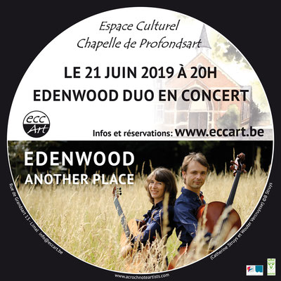 Edenwood duo, Catherine Struys & Wouter Vercruysse à la chapelle de Profondsart. 2019