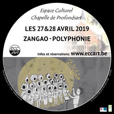 Concert Zangao -choeur polyphonique à la chapelle de Profondsart. 2019