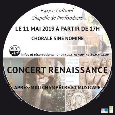 Concert Sine Nomine Chapelle de Profondsart (Wavre-Limal) 2019