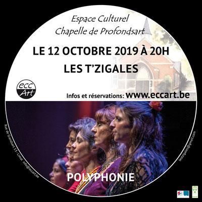 Les T'zigales à la chapelle de Profondsart,2019