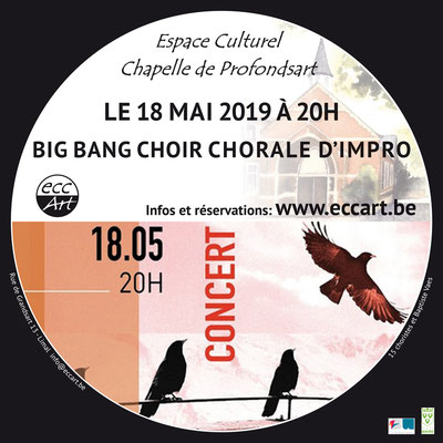 Big bang choir à la chapelle de Profondsart. 2019