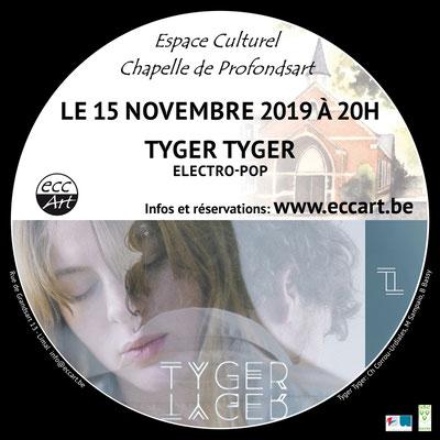 Tyger Tyger en concert à la chapelle de Profondsart, 2019
