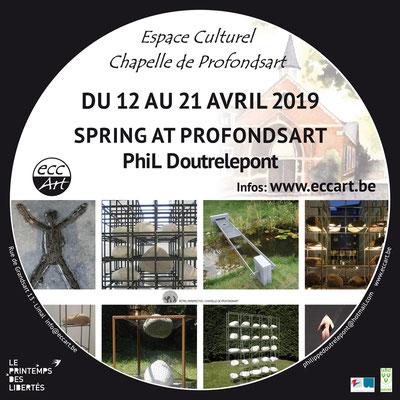 Exposition de Phil Doutrelepont à la chapelle de Profondsart. 2019
