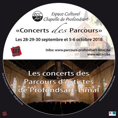 2018 Les concerts des Parcours d'Artistes de Profondsart-Limal