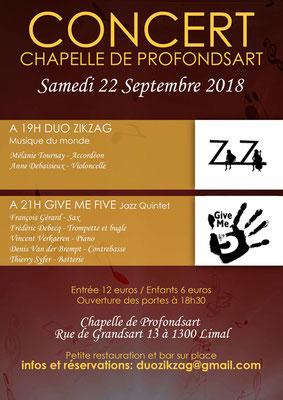 2018 Duo Zikzag et Give me Five -jazz