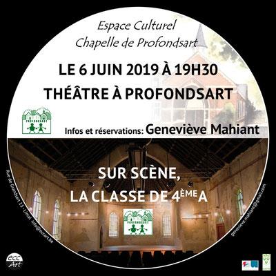 Théâtre à la chapelle de Profondsart. 2019