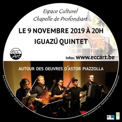 Iguazú Quintet en concert à la chapelle de Profondsart, 2019