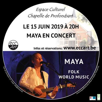 Maya en concert  à la chapelle de Profondsart. 2019